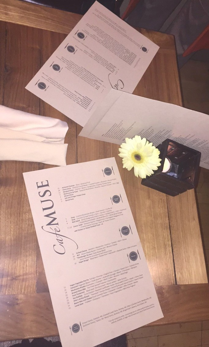 Cafe Muse Menu